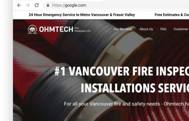 Company Website for OhmTech Fire Protection