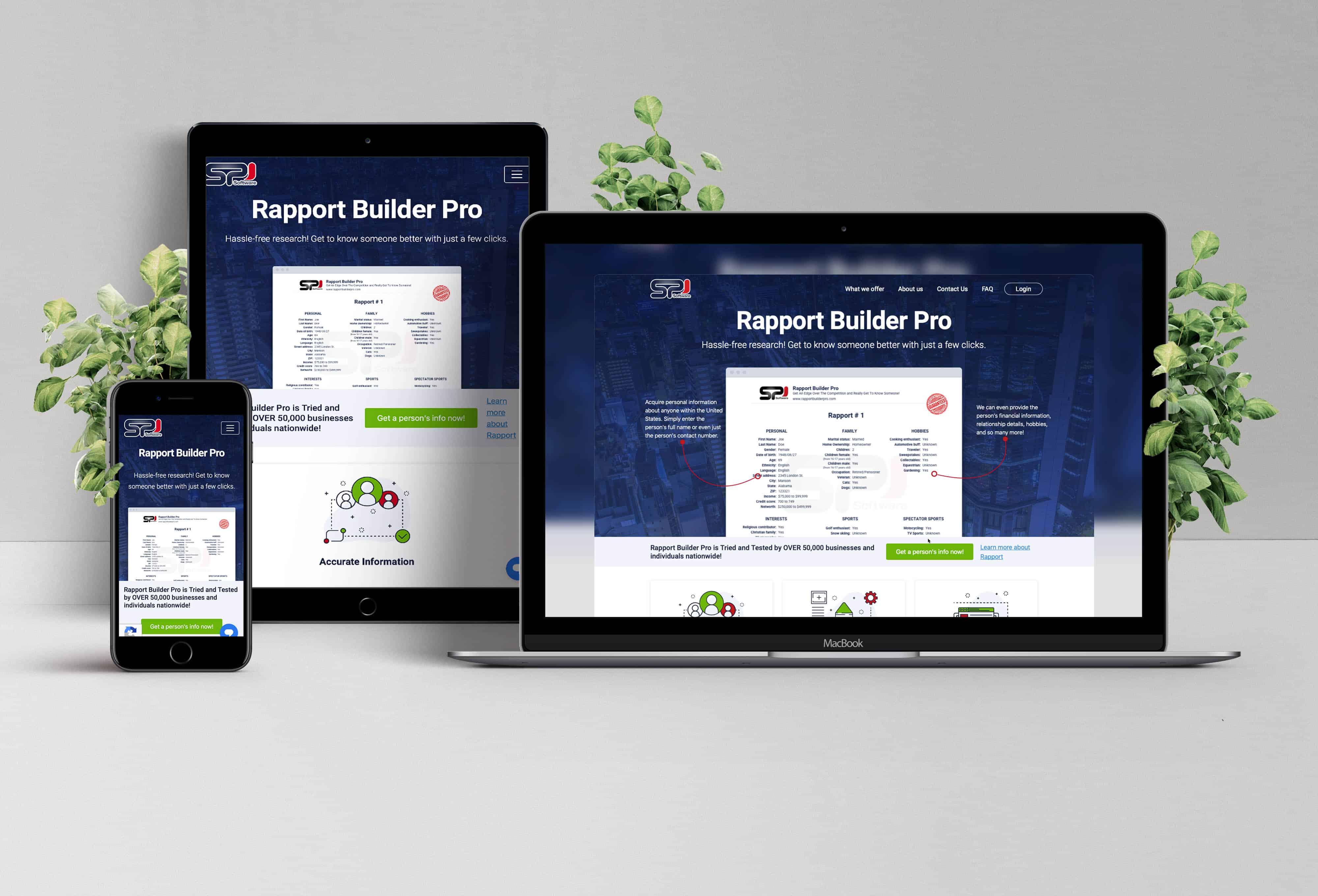 Custom Portal for Rapport Builder Pro