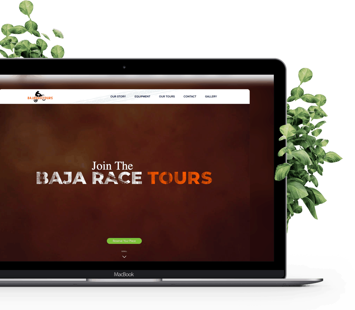 Booking Website Design for BajaRaceTours