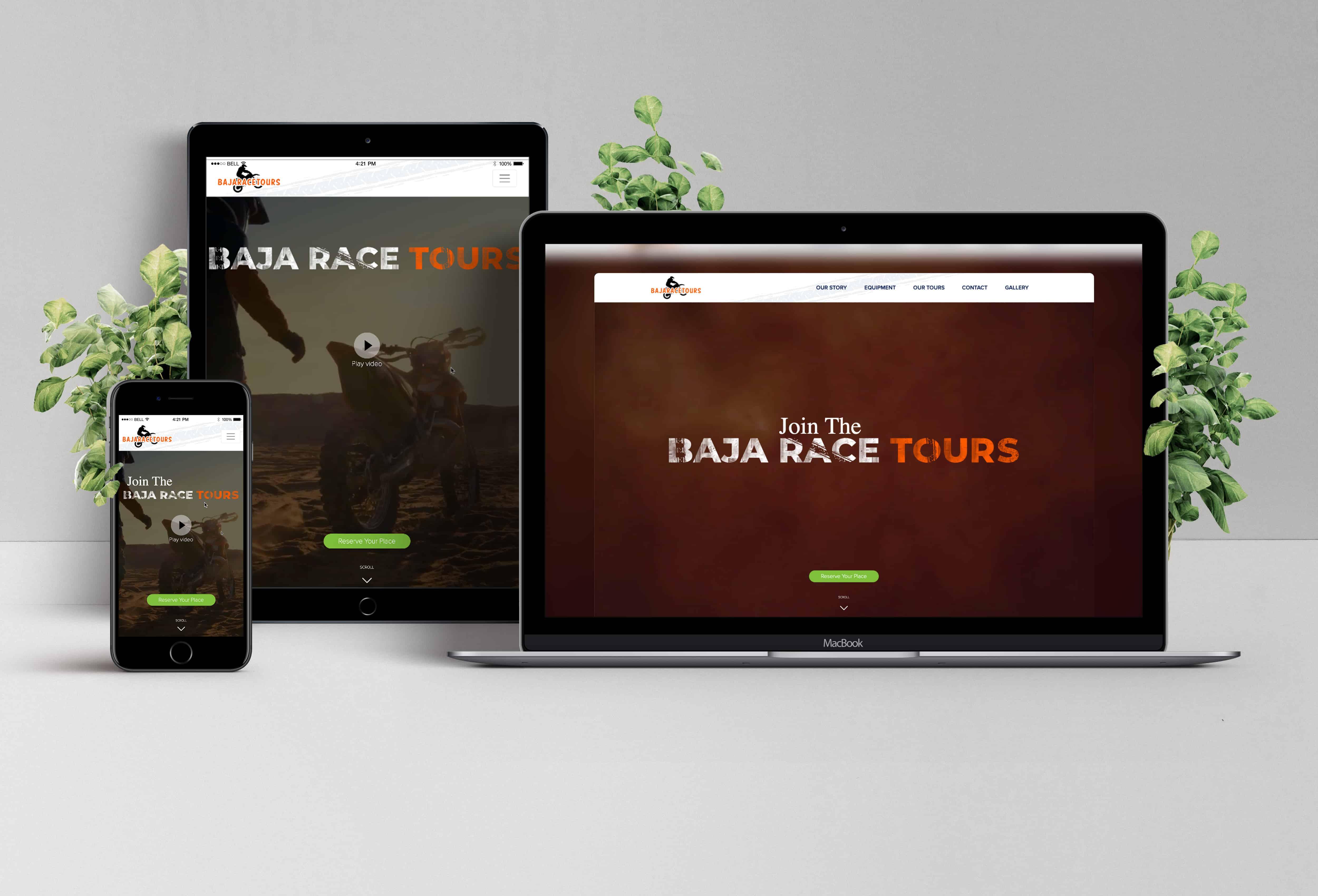 Booking Website Design for BajaRaceTours